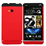 Heartly Double Dip Flip Hard Shell Premium Bumper Back Case Cover For HTC One 802D 802T 802W - Black Red Red