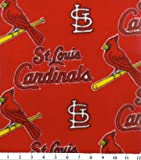 MLB St. Louis Cardinals Baseball Fleece Fabric Print By the Yard at Amazon.com