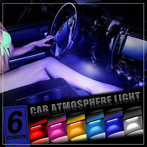 thunder 4pcs dc 12v car interior led light underdash lighting kit auto decorative atmosphere. Black Bedroom Furniture Sets. Home Design Ideas