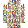 Cross Stitch Kit Nursery Alphabet and Bears 14 Count 48cm X 58cm