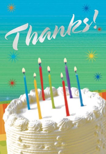 Sparkle Wishes Prismatic Thank You Cards (8 count) - 1
