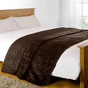 Dreamscene Mink Faux Fur Throw, Chocolate, 125 x 150 Cm