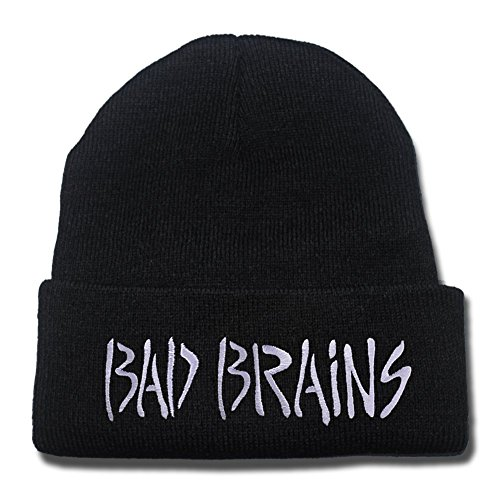DEBANG Bad Brains Band Logo Beanie Fashion Unisex Embroidery Beanies Skullies Knitted Hats Skull Caps
