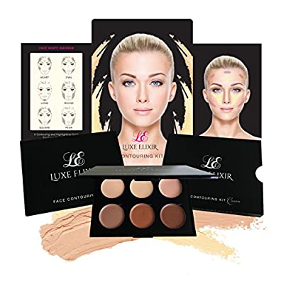 Cream Contour Kit - Premium Highlighting and Contouring Palette with Smooth, Pigmented Cream- Step-by-Step Contour Guide Included