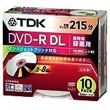 TDK 録画用 DVD-R DL CPRM対応 8倍速 ホワイトプリンタブル 5mmスリムケース 10枚パック DVD-R215DPWX10N