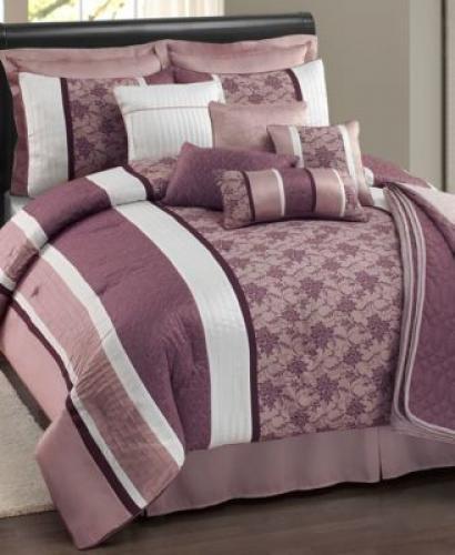 Sunham Ashley 12 Piece Queen Comforter Set Lavender front-568683