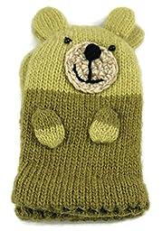 Two\'s Company Kids Teddy Bear Mittens - Green