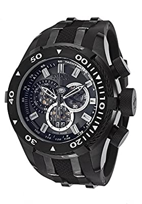Invicta Men's 0979 Bolt Analog Display Swiss Quartz Black Watch