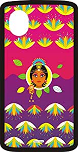PrintSpeaks Gilded Lakshmi Nexus 5 Back Cover (Multicolor)