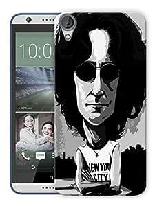 """Humor Gang John Lennon New York City - The Beatles Printed Designer Mobile Back Cover For """"HTC DESIRE 820"""" (3D, Matte, Premium Quality Snap On Case)"""