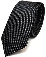 Cravate à rayures - noir gris - 100% pure soie - fine