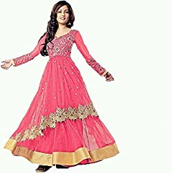 D.manav Creation Womans riya pink salwar suit unsitch dress matrials(riyapink001_pink)