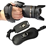 First2savvv OSH0401 Professional Wrist Grip black genuine leather hand Strap for FUJIFILM FinePix HS20EXR
