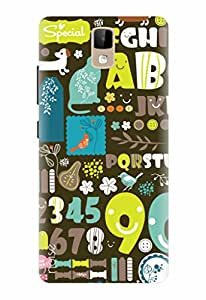 Noise Designer Phone Case / Cover for Intex Cloud Jewel / Patterns & Ethnic / Alpha & Numeric Design