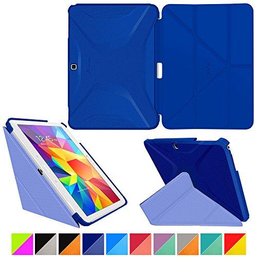 roocase-samsung-galaxy-tab-4-101-case-origami-3d-palatinate-blue-aruba-blue-slim-shell-101-inch-101-