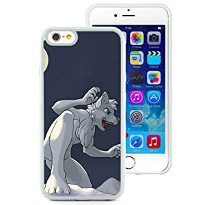 6 Phone cases, Wolf White Drawing Moon White iPhone 6 4.7 inch TPU cell phone case