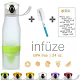 Hurry 3 FOR 2 Promotion! ! Top Rated 2-in-1 Water Bottle Infuser & Integrated Lemon Juicer - Unique Flavor-Enriching Design - FREE Bonus Gifts - Unbeatable Quality - 7 vibrant colors (White/Green)