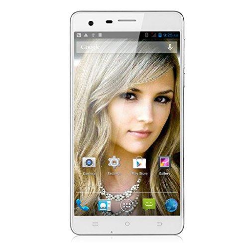 "CUBOT S350 Quad Core 1.3GHz Dual SIM 2G+16G 3G Smartphone 5,5"" Zoll IPS HD Screen Dual Kameras Android 4.4 Handy ohne Vertrag GPS Bluetooth 4.0 WIFI Weiß"