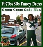 Green Cross Code Man 1970s Fancy Dress Costume