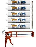 Dryzone Damp Proofing Kit: 5 x 310ml DPC Injection Cream + Cox Mastic Gun + Dryzone Drill Bit (Rising Damp Treatment)