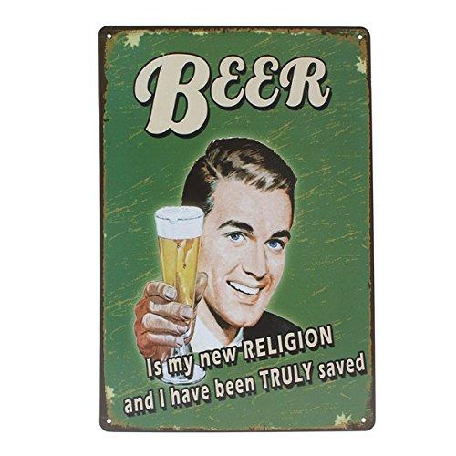 Beer Tin Sign Vintage Metal Plaque Poster Bar Pub Home Wall Decor 0