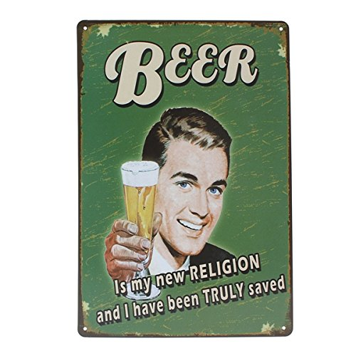Beer Tin Sign Vintage Metal Plaque Poster Bar Pub Home Wall Decor 0