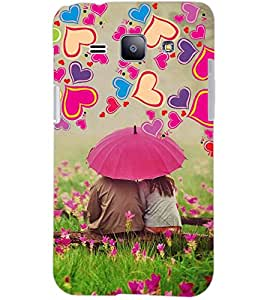 PrintDhaba LOVE COUPLE D-6387 Back Case Cover for SAMSUNG GALAXY J1 (Multi-Coloured)