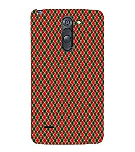 Red checkes 3D Hard Polycarbonate Designer Back Case Cover for LG G3 Stylus :: LG G3 Stylus D690N :: LG G3 Stylus D690