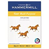 Hammermill Fore MP Copy/Laser/Inkjet Paper, 96 Brightness, 20lb, A4 Size 210mm x 297mm (8-3/10&quot; x 11-7/10&quot;), 500 Sheets (10303-6)