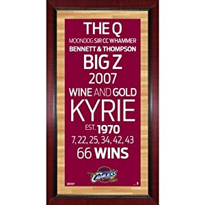 Framed 16x32 Cleveland Cavaliers Subway Sign Wall Art Photo by Steiner Sports