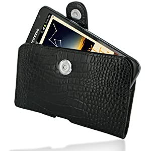 PDair P01 Black Crocodile Pattern Leather Case for Samsung Galaxy Note GT-N7000