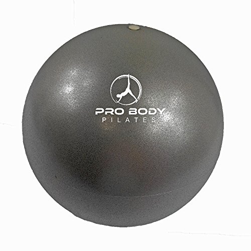 ProBody Pilates Silver Mini Exercise Ball - Premium 9-Inch Stability Ball for Pilates, Yoga, Training and Physical Therapy