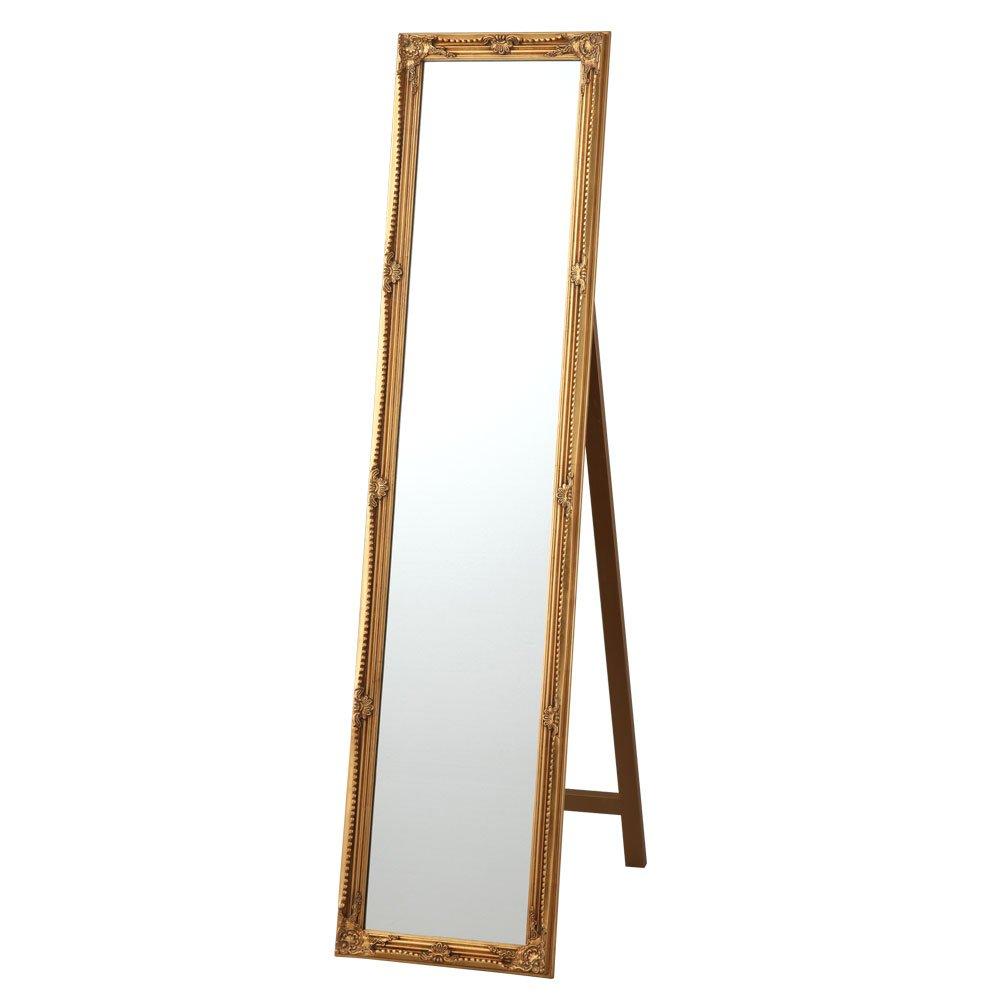 鏡 全身 スタンドミラー おしゃれ アンティーク 姿見 全身鏡 スタイル ファッション かわいい 金 ゴールド
