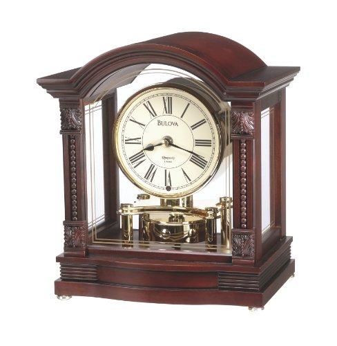 bulova b1987 bardwell clock antique walnut finish home