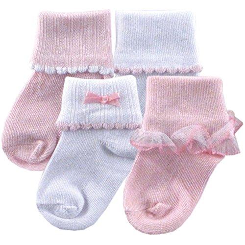 Ribbed Cuff Girl Socks, Girl, 12-24 months
