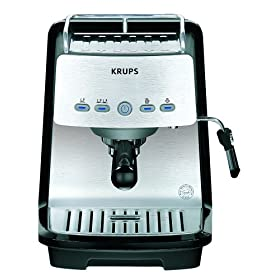krups xp4050 1200 watt 15 bar pump programmable espresso. Black Bedroom Furniture Sets. Home Design Ideas