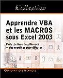 echange, troc Collectif - Apprendre Vba et les Macros Sous Excel 2003