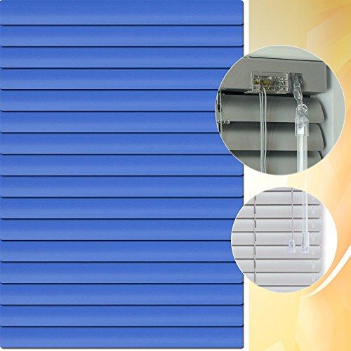 Aluminium Jalousie 85 x 240 cm (Breite x Höhe) – Lamellenfarbe 1516 ozean dunkel // Maßanfertigung Alu Jalousien Jalousette Rollo Plissee