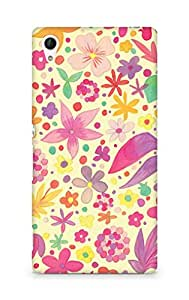 Amez designer printed 3d premium high quality back case cover for Sony Xperia Z4 (Cute paper vintage floral)