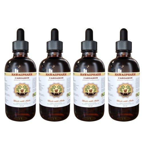 Cardamom Liquid Extract, Organic Cardamom (Elettaria Cardamomum) Dried Removed Tincture Supplement 4X4 Oz