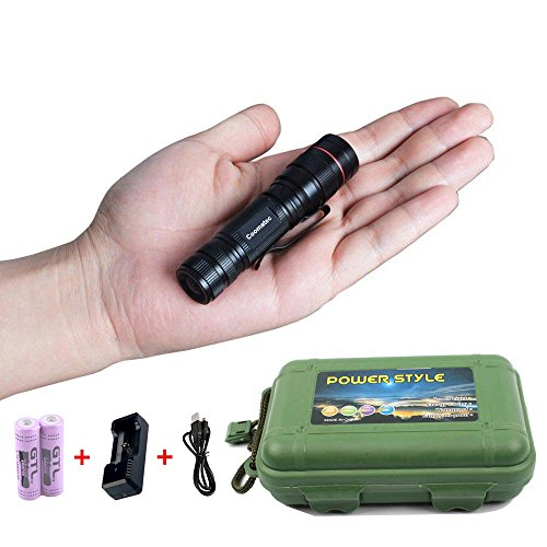 Coomatec-SD-200-Kit-Ultra-starken-450-Lumen-LED-Taschenlampe-Taschenlampe-schafft-Zoom-Flashlight