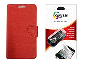 Colorcase Flip Cover Case with Screenguard for Infocus M530