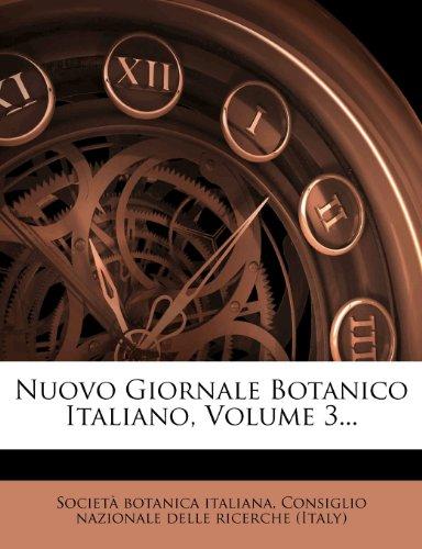 Nuovo Giornale Botanico Italiano, Volume 3...