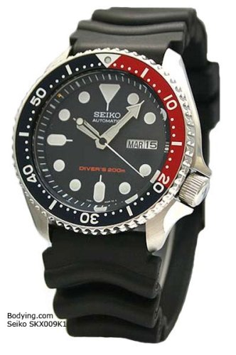 Seiko Men's Automatic Diver Black Rubber Stainless Steel Watch, Model SKX009 - Buy Seiko Men's Automatic Diver Black Rubber Stainless Steel Watch, Model SKX009 - Purchase Seiko Men's Automatic Diver Black Rubber Stainless Steel Watch, Model SKX009 (Seiko, Jewelry, Categories, Watches, Men's Watches, Casual Watches, Rubber Banded)