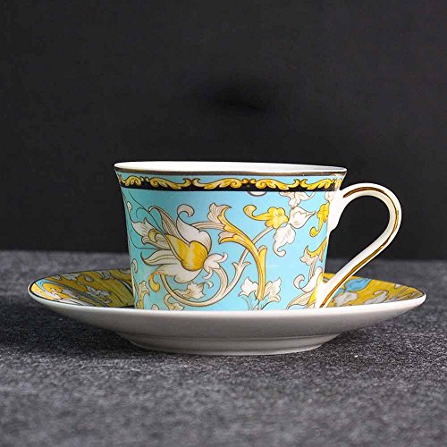 BBSLT-European creative coffee cup and saucer, bone China coffee sets, exquisite red saucer