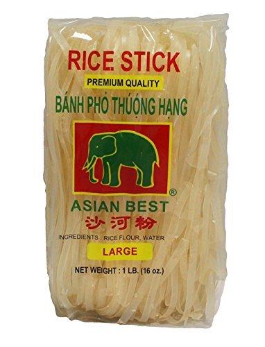 Asian Best Premium Rice Stick Noodle Large, 16oz (3 Packs) (Pad Thai Rice Stick Noodles compare prices)