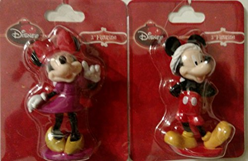 Mickey Mouse and Minnie Mouse Figurines - 1