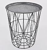 Beistelltisch-rund-Skandi-Design-Metall-grau-Tisch-Mbel-50x43x43cm