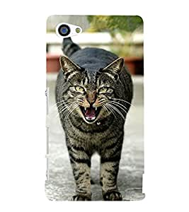 growling Cat 3D Hard Polycarbonate Designer Back Case Cover for Sony Xperia Z5 Premium :: Sony Xperia Z5 Premium Dual