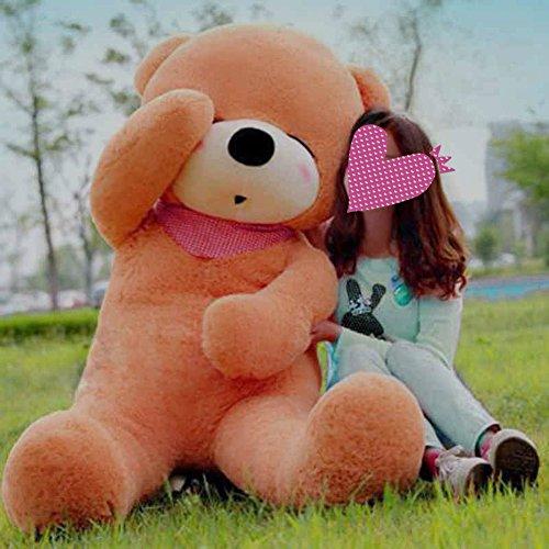 VERCART 79 inches Light Brown 200CM Giant Huge Cuddly Stuffed Animals Plush Teddy Bear Toy Doll